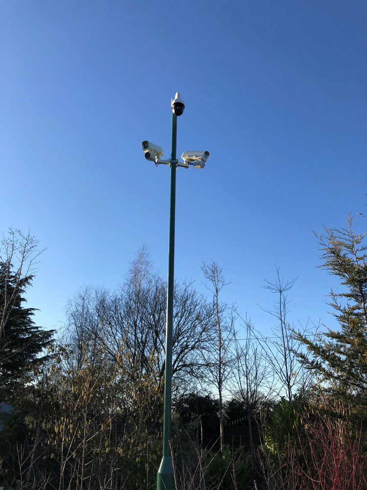 Audio and visual deterrent systems
